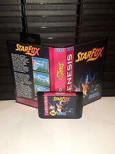 Starfox Game for Sega Genesis! Cart & Box!