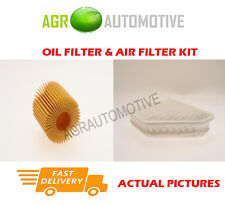 DIESEL SERVICE KIT OIL AIR FILTER FOR TOYOTA COROLLA 1.4 90 BHP 2013-