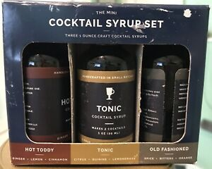 Hot Toddy Tonic Old Fashioned Mini Cocktail Syrup Set 1oz each Sealed New In Box