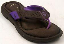 Nike Brown/Purple Women's Comfort Flip Flops Sandals Sz 10 M Shoes
