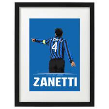 Javier Adelmar Zanetti Inter Milan art print / poster