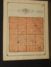 Minnesota Lac Qui Parle County Map Hamlin Township  1913  W3#05