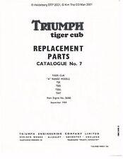 Triumph Parts Manual Book 1960 Tiger Cub T20, T20S, T20SL & T20T
