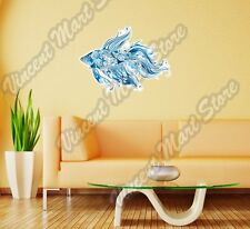 "Tropical Fish Blue Sea Ocean Abstract Wall Sticker Room Interior Decor 25""X20"""