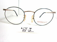 Vtg 80s Vienna Line Round Eyeglass Frame by Carrera Gold Blue Metal (Ltp-52)