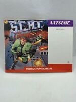 S.C.A.T. SCAT Nintendo NES ORIGINAL MANUAL GREAT CONDITION
