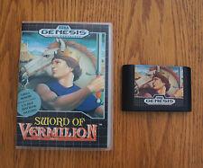 SWORD OF VERMILION (Game & Box ONLY). Sega Genesis. RPG.