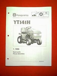 "HUSQVARNA MODEL YT141H 14 HP 44"" LAWN TRACTOR PARTS MANUAL"
