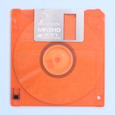 "IMATION MF/2HD 3 1/2"" 3.5"" Floppy Disk 1.44MB Macintosh Formatted (Orange)"