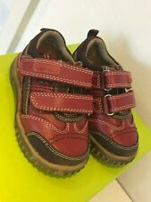 Hush Puppies Boys Lionfish Red Multi Lea Wide Shoes UK 3.5 / EU19.5 Cost £36.00