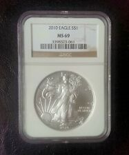 2010 American Silver Eagle Dollar NGC MS-69 (#ASE-9)