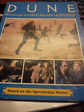 GROSSET & DUNLAP DUNE PUZZLES, GAMES, MAZES, ACTIVITIES BOOK BASED ON THE MOVIE