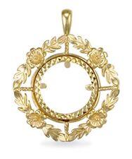 9ct Gold Full Sovereign Coin Pendant Mount 6g