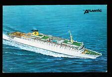 1982 Mv Atlantic Postcard - Home Lines