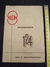 MANUALE USO MANUTENZIONE ORIGINALE DELL'EPOCA GILERA 124 ANNO 1960