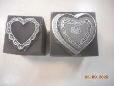 Printing Letterpress Printer Block Decorative Hearts Print Cut