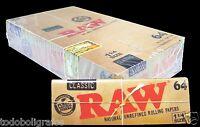 1536 hojitas de papel de liar natural  RAW, nuevo formato 64 hojas cada librito.