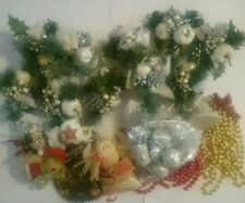 Christmas Vintage decorations, flowers, beads, Baubles etc