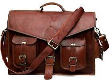 Messenger Shoulder Laptop Crosbody Bag Real fancy Vintage Brown Leather Bag