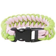 "Maxam™ 8"" Fluorescent Green and Pink Paracord Bracelet"