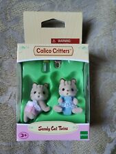 Calico Critters - Sandy Cat Twins #CC1407- New Factory Sealed