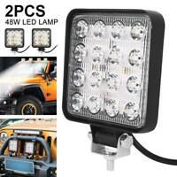 lumière barre travail voiture LED 2X 48W allume camion SUV tout-terrain ATV