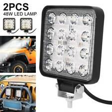 2X 48W Car LED Work Bar Flood Spot Lights Lamp 12V 24V Van ATV Offroad SUV Truck