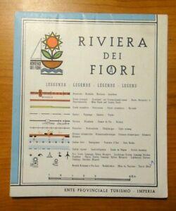 1969 MAPPA CARTINA - RIVIERA DEI FIORI - ENTE PROVINCIALE TURISMO IMPERIA -