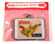 Rare Coca-Cola Japon Coke Métal Porte-clés Motif: Boîte de bouteille