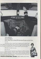 1964 Pakistan International Airlines PIA PRINT AD Captain(s) in the jet cockpit