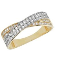 9ct Yellow Gold Hallmarked Ladies Solid CZ Ring All Sizes Available 1.8gr