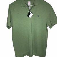 Brooks Brothers Mens Original Fit Polo Shirt Green Short Sleeve Logo XL New