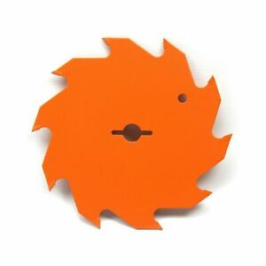 140mm x 12.7mm 10T TCT Circular Saw Blade for Wood. Orange None-Stick Coating