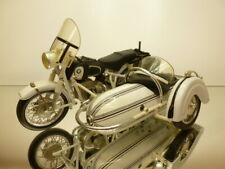 TOOTSIETOY BMW R60-2 MOTORCYCLE + SIDECAR 1960 - WHITE 1:10 - GOOD CONDITION