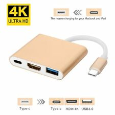 USB Type C to Multiport HDMI Adapter 4K Converter for MacBook More USB C Devices