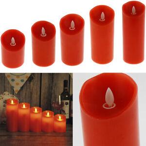 Bougie chauffe-plat LED sans flamme Blesiya pour les fêtes de mariage rouge