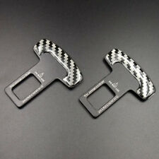 2PCS Universal Seat Belt Buckle Car Safety Alarm Stopper Auto Insert Clip Clasp