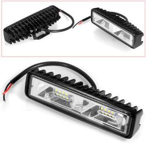 6000K 6'' 48W 16LED Work Light Flood Beam Bar Car SUV OffRoad Driving Fog Lamps