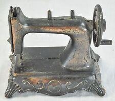 Durham Industries Miniature Sewing Machine Die Cast Copper Tone