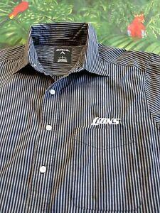 Antigua Mens Detroit Lions Button Front Long Sleeve Casual Shirt Sz Large