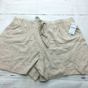 Jockey Women's Cotton Boxer Pajama Shorts Color: Beige Size: Large