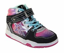 Girls Skills funky hi-top laced/velcro trainer - 2 colours available