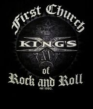 KINGS X cd lgo FIRST CHURCH OF ROCK AND ROLL Official SHIRT MED New est. 1980