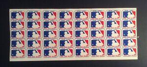 MLB Baseball VTG Logo Helmet Sticker Decals 1.25x1 Sheet Of 40 Unused Memorabili