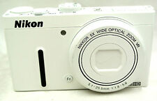 Nikon Coolpix P330 12.2MP Compact digital camera 5x zoom lens *white *superb