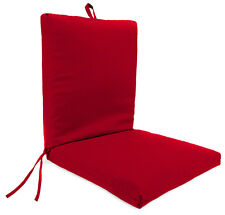 6 Dining Seat Cushion Chair Set Patio Garden Outdoor Room Soft 20x43x1.5 NEW Red