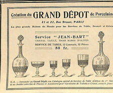 PARIS RUE DROUOT MAGASIN GRAND DEPOT PORCELAINE PUBLICITE 1910