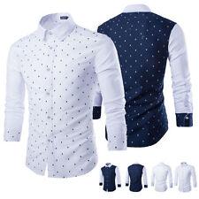 Unbranded Men's Cotton Blend Long Sleeve Regular Collar Casual Shirts & Tops