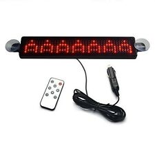 Koolertron Red 12V Car LED Programmable Message Sign Scrolling Display Board Red