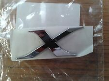 "MITSUBISHI LANCER EVOLUTION FQ / EVO 10 ""X"" BADGE IN CHROME"